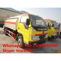 forland 4*2 RHD 5000 liters fuel tanker truck for sale, Factory sale best price forland 5m3 oil dispensing truck Manufactures