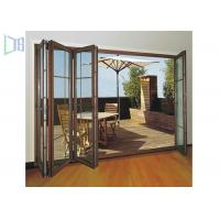 China Clean Contemporary Aluminium Folding Exterior Door With Double Tempered Glass wholesale