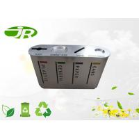China Round Stainless Steel Waste Recycle Container , Paper Waste Bin on sale