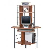 Corner Home Office Computer Desks Workstation With Cherry PVC DX-017 Manufactures