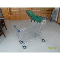 Retail Shopping Carts , 210L Supermarket Shopping Trolley with Baby Capsule Manufactures