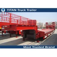 Titan 3 axle 60 tons Payload semi low bed trailers for heavy equipment transportation Manufactures
