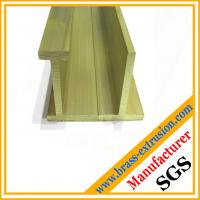 China flat brass extrusion sections profiles according to customs requirement on sale