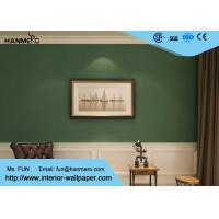 China Durable Non woven Wallpaper Removable Material with Dark Green Color wholesale