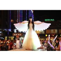 2m White Beautiful Perform Cloth Wearable Moving Inflatable Wing For Stage Manufactures