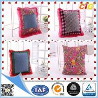 Customized Outdoor Cushion Covers , Sofa Seat Cushion Cover With Polyster And Cotton Manufactures
