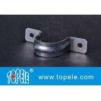 Buy cheap EMT Conduit Fittings , Galvanized Steel / Zinc Plated Two Hole EMT Conduit Strap OEM from wholesalers