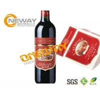 Liquor Plastic Bottle Roll Wine Sticker Custom Label Tags CYMK Printing Manufactures