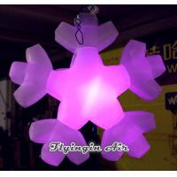 China 2m Height Hanging Inflatable Snowflakes for Christmas Party Promotion wholesale