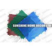 Colorful Recycled Polypropylene Interlocking Sports Flooring With Diamond Pattern Manufactures