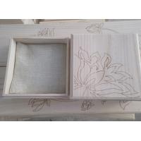 China custom wood box wood jewelry box with laser pattern on sale