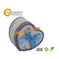 Heart Shaped Soap Cardboard Gift Boxes With Lids , Silk Screening Manufactures