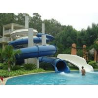 Fiberglass Closed spiral water slide , swimming pool water slide Manufactures