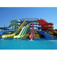 water park custom spiral water slide , outdoor water slides for kids Manufactures