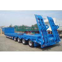 60 Ton 80 Ton Heavy Duty Truck , Low Bed Semi Trailer For Machinery Transportation Manufactures