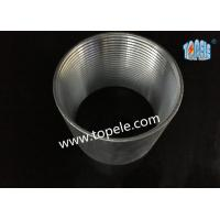 Rigid Coupling Zinc Plated Steel , IMC Conduit Fittings , Electrical Galvanized Threaded Coupler Manufactures