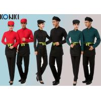 Cool Restaurant Staff Uniforms With Solid Color Long Sleeve Shirt And Pants