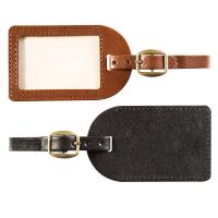 Hot customized leather luggage tag Manufactures