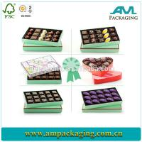 China Cheap packaging Food container hchocolate candy paper cardboard box on sale