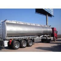 42000 Liters Fuel semi tanker trailer with European system for bad road condition gray color Manufactures