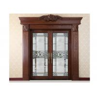 China Custom Stained Patio Sliding Doors ,19-22 Mm Double Sliding Glass Panels on sale