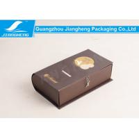 Buy cheap Classical Cardboard Packing Boxes Book Shape Storage Box Foil Stamping Printing from wholesalers