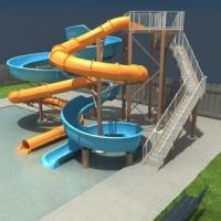 China long custom Tube Slide / Open Spiral Water Slides For Water Playground wholesale