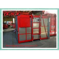 1 Ton Capacity Double Cage Construction Elevator Safety For Passenger And Material Manufactures