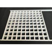 Quality Square Lattice Grille Suspended Metal Ceiling Aluminum Alloy 0.4mm Thickness for sale