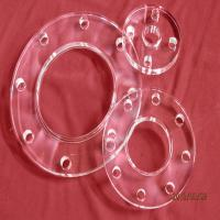 Clear Round Quartz Tube with Flange Manufactures