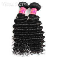Quality Real Deep Wave Indian 6A Virgin Hair  No Mixed Animal Hair or Synthetic Hair for sale