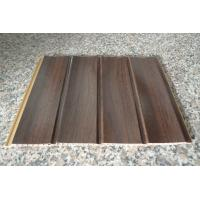China Wood Grain Strip Laminated PVC Wall Panel 3D Effect Self - Fire Extinguishing wholesale