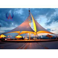 China Heavy Duty Tensile Fabric Structures Large Square Shade Sail Steel Q235 Frame on sale