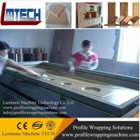 PVC wood door panels vacuum membrane press machine with good price Manufactures