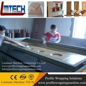 wood grain PVC wardrobe vacuum membrane press machine Manufactures