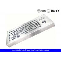 Desktop Rugged Stainless Steel IP65 Rated Keyboard With 86 Full Travel Keys Manufactures