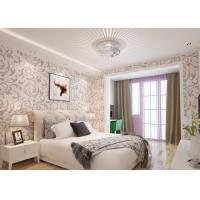 Elegant Non - woven Modern Removable Wallpaper  / Leaf Pattern Wallpaper Manufactures