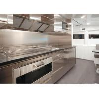 Unassembled Stainless Steel Kitchen Units / Cupboards / Cabinets For Small Kitchens Manufactures