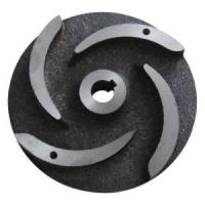 Pump Parts Casting Ductile Cast Iron Semi-Open Impeller Casting Hardened Sand / Slurry Impeller Pump Vane