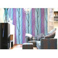 Non Pasted PVC Interior Room Wallpaper Asian Style Wallpaper With Tree Printing Manufactures