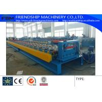 Chain Transmission Metal Deck Roll Forming Machine With 28 Stations & 10T Manual Decoiler Manufactures