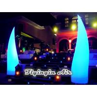 Buy cheap 3m High Beautiful Inflatable Light Cone for Wedding Night and Stage from wholesalers
