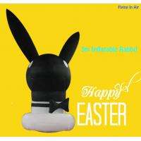OEM 3m Black Easter Inflatable Decorative Inflatable Rabbit Foe Easter Manufactures