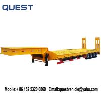 China 4-axle 80 tons lowloader excavator transport low bed trailer wholesale