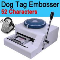 China Manual Dog Tag Card Embosser Embossing Machine Military wholesale