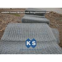Hexagonal Wire Netting Gabion Mesh With Electro Galvanizing And PVC Coated Manufactures