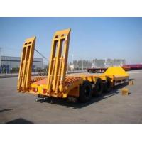 3 axles low load semi trailer ,60Ton 3 axles truck bed trailer sale Manufactures