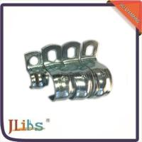 China Zinc Galvanized Hydraulic Tube Saddle Clamps / Saddle Pipe Clips Vertical Without Rubber on sale