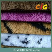 Anti - Static Colorful Auto Upholstery Fabric 100% Polyester Fake Fur For Seat Cover Manufactures