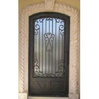China Wrought iron double entry doors on sale